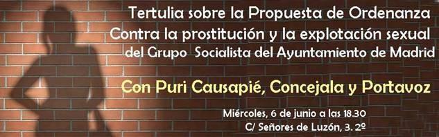 Cartel Tertulia Ordenanza Prostitución
