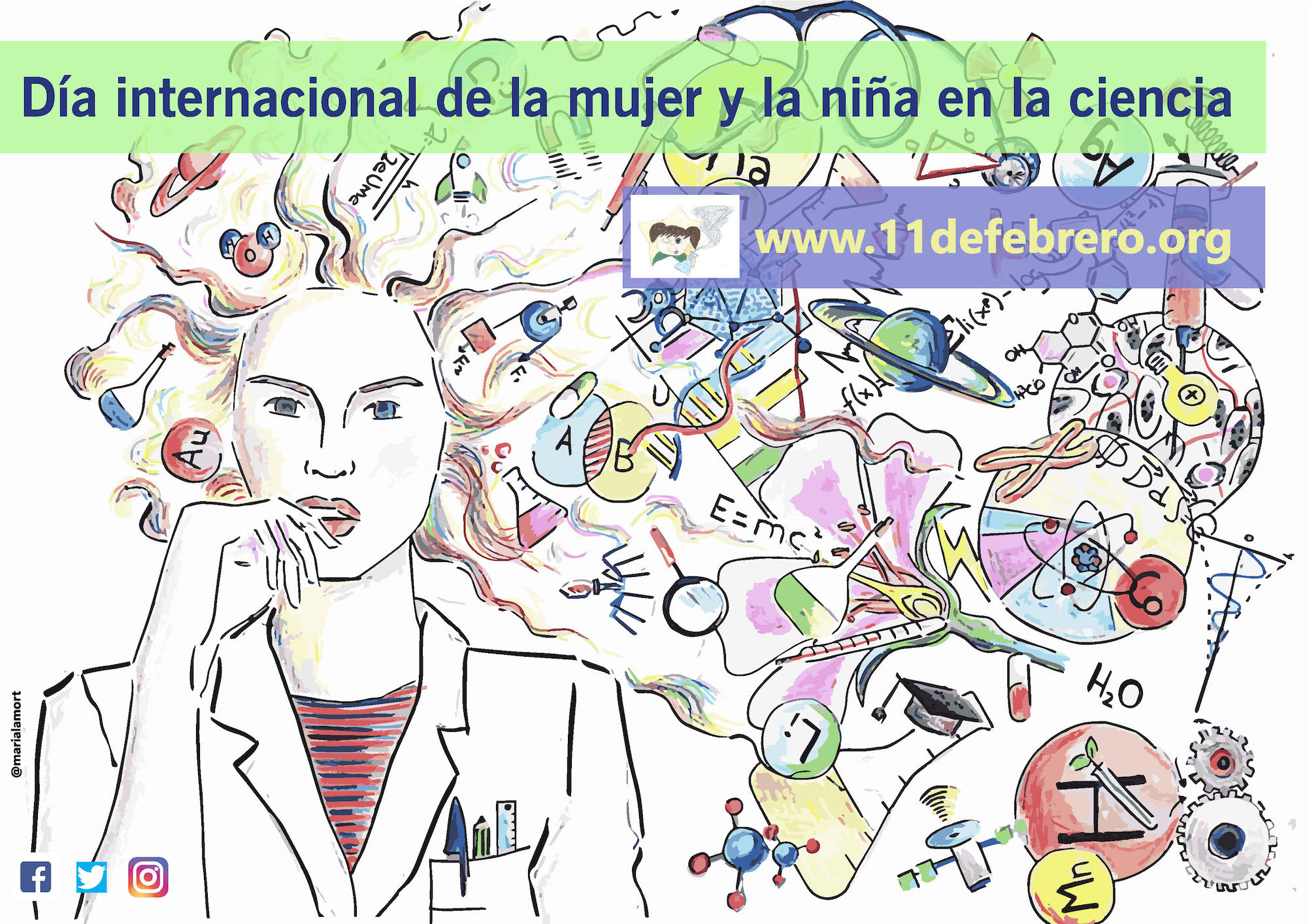 Día Internacional de La Mujer la niña y la ciencia