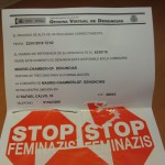 Resguardo de la denuncia a la policía el día 22 de enero