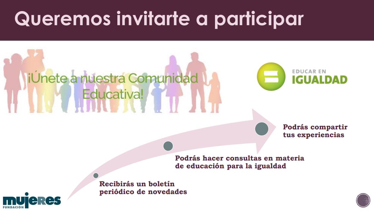 Invitación a participar en Educar en Igualdad