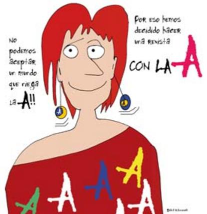 con la A
