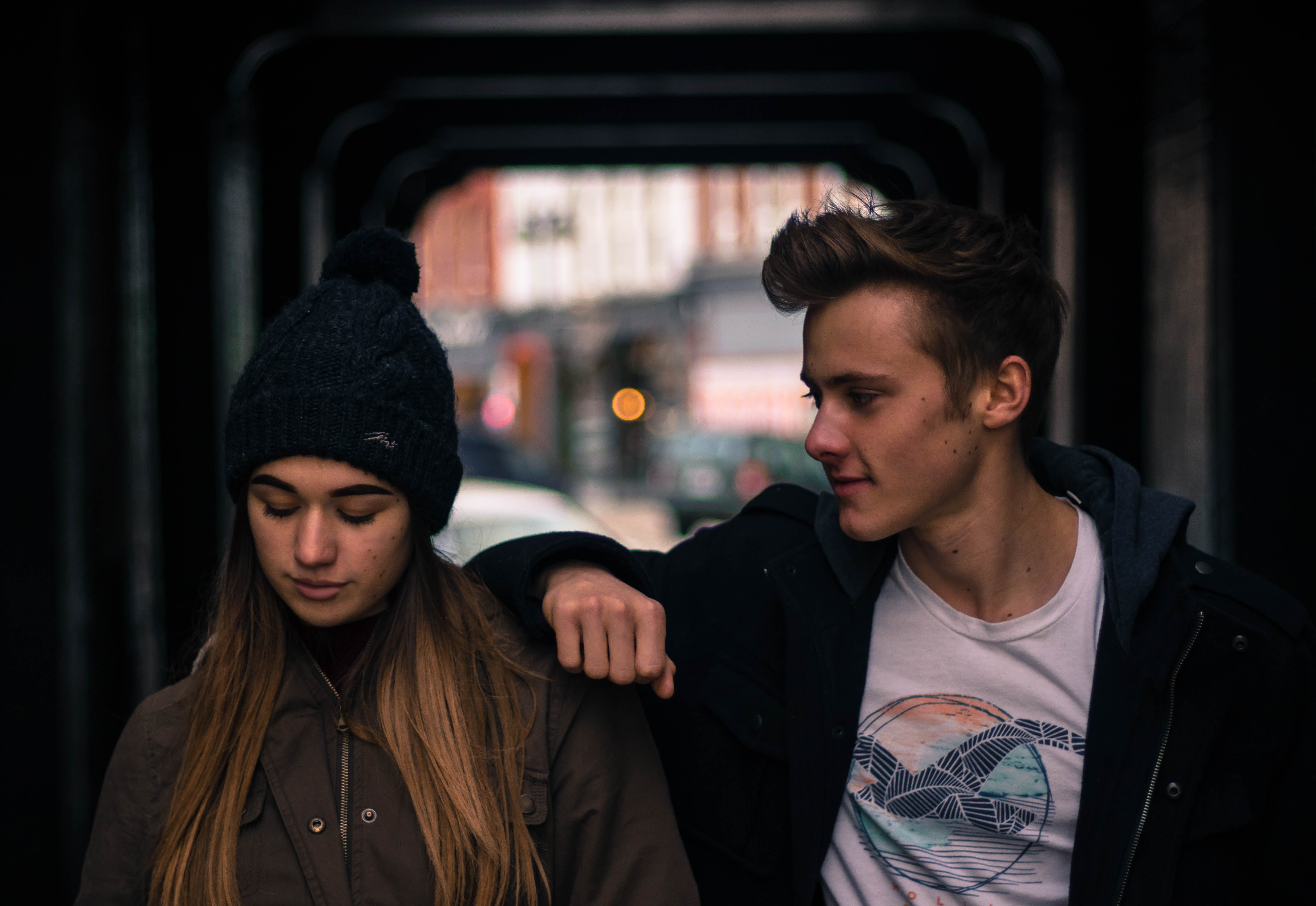 young-couple-in-city-at-night-246367